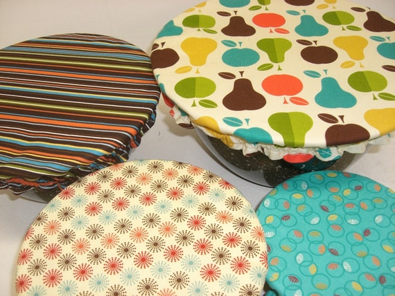 Custom order for Jessie, 6- 3.5 and 1-10.5 covers, Bowl cover,  Reusable Bowl Covers, Eco Friendly, ready to ship