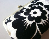 Black Velvet Flower Clutch Bridesmaid Gift by Lolis Creations Bridesmaid gift