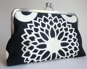 Ivory Flower Purse Bag Clutch  by Lolis' Creations