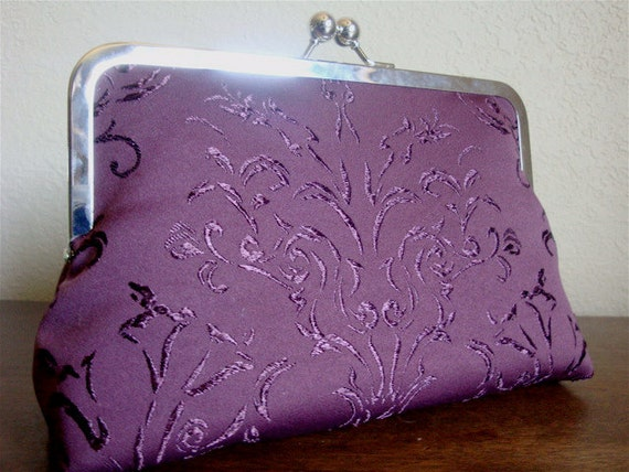 Eggplant Clutch by Lolis Creations READY TO SHIP