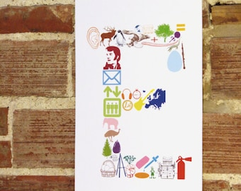 E is for... (11 x 17 Letter E Poster)