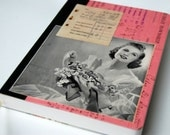 Pink Medium Altered Journal - Vintage Mixed Media