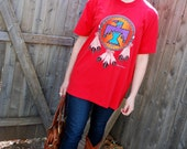 SALE Native-American Indian-Inspired Graphic Vintage T-Shirt