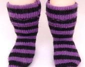 Purple & Black Striped Socks for Lati Yellow, PukiFee, Riley Kish, Tulah Kish, DIM Silf, Lati Yellow SP, Blythe, Dollk K00001A
