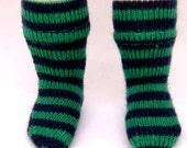 Green & Black Striped Socks for Lati Yellow, PukiFee, Riley Kish, Tulah Kish, Bobobie Nissa, DIM Silf, Lati Yellow SP, Blythe, Dollk K00001D