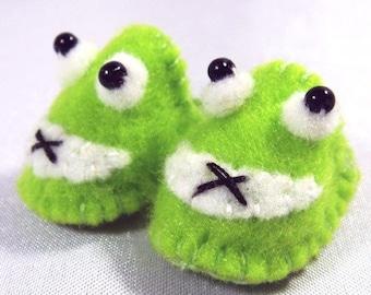 Green Frog Pet Slippers for Lati Yellow, PukiFee, Riley Kish, Tulah Kish, Bobobie Nissa, DIM Silf, Dollk S00035A