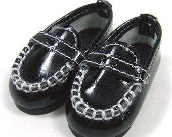 Black Boat Shoes for YO-SD, LittleFee, Petite Ai, Ange Ai, Ciao Bella S00024A