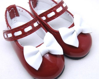 Bow Dark Red Mary Janes for YO-SD S00006A