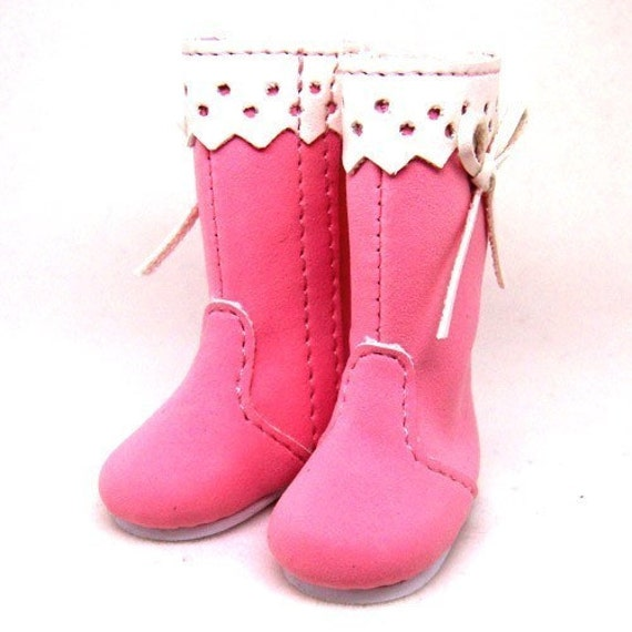 Pink Suede Boots for Lati Yellow SP S00019A