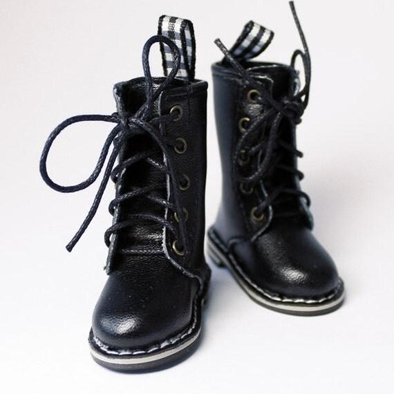 Black Dr. Martens Style Boots for YO-SD, LittleFee, Petite Ai, Ange Ai, Ciao Bella S00042B