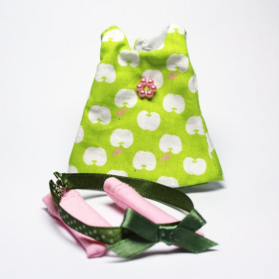 Apple in my eyes - Green Tank Dress Set for Lati Yellow, PukiFee, Dollk C00054B