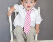 Baby Boy's Tie - Hot Pink Fuchsia Gingham