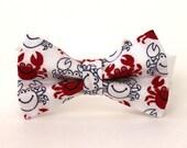 Boy's Bow Tie - Crab - Red White & Blue