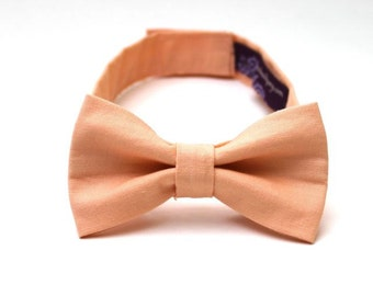 Baby Boy's Bow Tie - Solid Peach - peach bowtie - peach bow tie - boys bowties boys bowtie boys bow tie peach solid