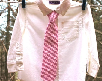 Boy's Tie - Hot Pink Fuchsia Seersucker - any size boys necktie Magenta Seersucker Tie hot pink seersucker necktie kids ties Striped Tie