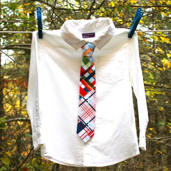 Baby Boy's Tie - Madras Plaid Necktie