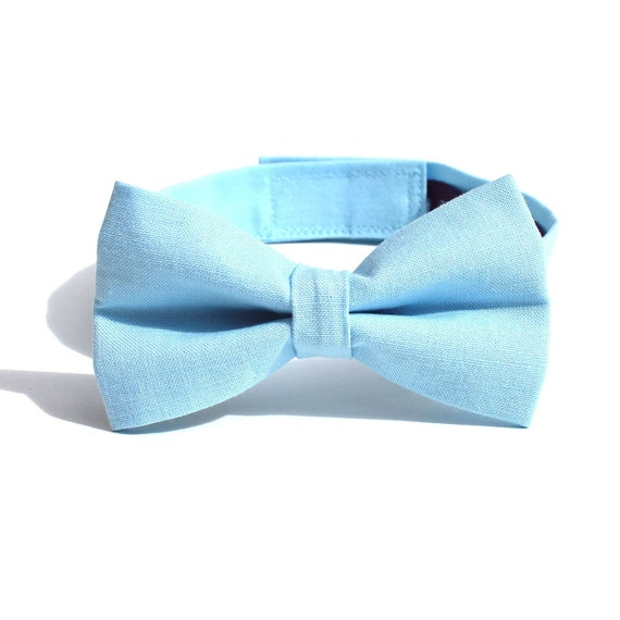 Baby Boy's Bow Tie - Light Blue Solid -  Baby Blue Bowtie