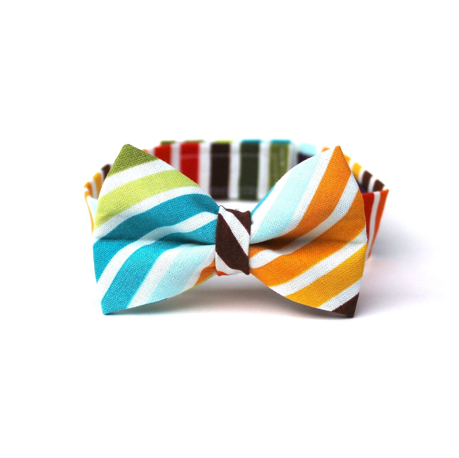 baby boy s bow tie multicolor stripe brown orange