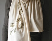 SALE-Organic Cotton Jersey Scarf- Natural