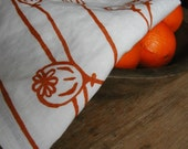 Poppy Tea Towel-Organic Linen