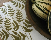 Set of Seconds-Two Organic Linen Towels-Ferns