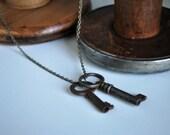 Vintage Skeleton Key Necklace 3.0