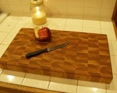Creekers Woodworks BIGGER BOY End Grain Cutting Board, Butcher Block