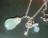 sterling silver and gemstone necklace - Pastel Key to Spring