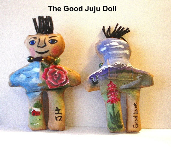 Good Juju Doll  - good luck - Handmade and hand painted MADE TO ORDER