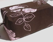 Cosmetic bag, craft storage pouch with zipper, cotton