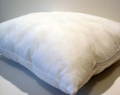 Pillow form 14 inch square, white insert cushion for covers