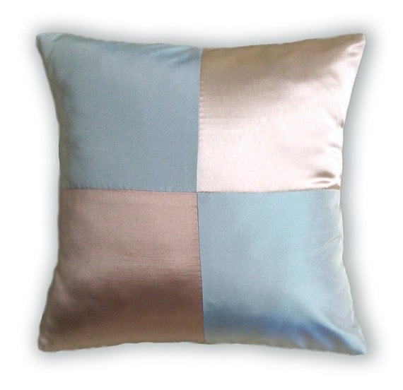 Blue Gold Cream Pillow Cover 16 in PAOLA DESIGN