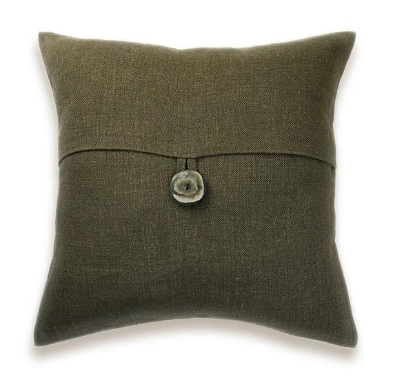 reserved for jaz burstall set of two dark olive green linen. Black Bedroom Furniture Sets. Home Design Ideas