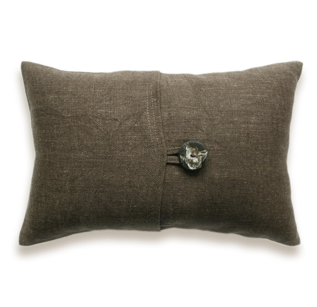Textured Brown Linen Lumbar Pillow Cover 12x18 by  : ilfullxfull305161243 from etsy.com size 1053 x 1020 jpeg 192kB
