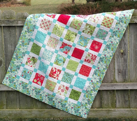 Lap Quilt 12 Days of Christmas