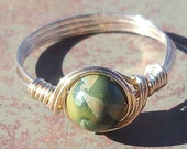 Rhyolite 14k Gold Filled Or Argentium Sterling Silver Wire Wrapped Ring Custom Sized -Made To Order