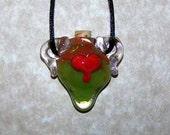 Lava Lamp Heart Bottle Pendant