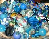 Loose Bead Assortment, Czech Glass - Deep Blue Variety Mix, Hand  Selected  Decorative, Lampwork - BLUE LAKE
