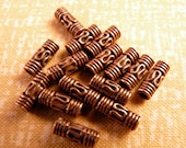Copper Beads 20 Small Copper Tube Beads Copper Findings