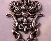 Skull Pendant Antique Silver Skulls Pendant Silver Pendant Silver Bead Silver Findings