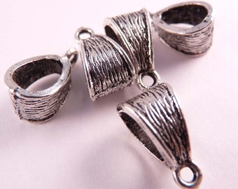 Silver Bails Tibetan Silver Bails 5 Silver Beads Silver Findings
