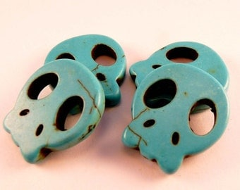 Gemstone Beads Alien Skull Beads Turquoise Beads