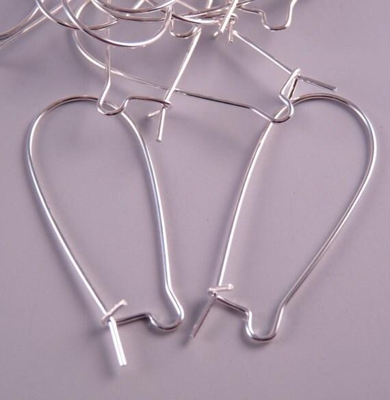 Silver Earwires Kidney Ear Wires Silver Findings