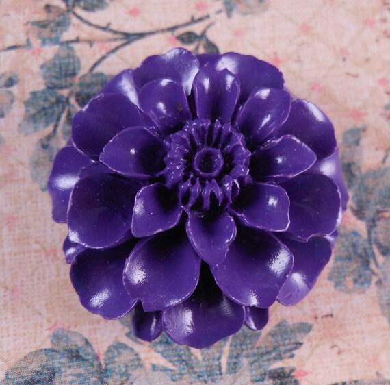Carved Coral Pendant Purple Flower Bead Gemstone Pendant
