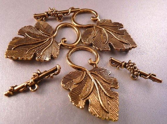 Gold Toggle Clasp Leaf Clasp Gold Findings
