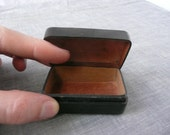 Miniature Worked Italian Leather Box
