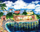 "Fortaleza, Puerto Rico - quality print 13 x 19"" of Galina's original artwork"