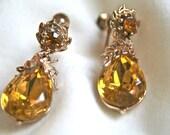 Honey Droplet Earrings