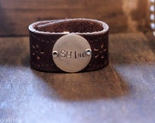 SHINE leather cuff (RESERVED for Rachel)
