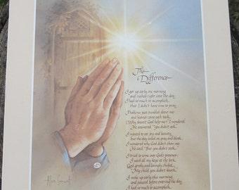 Vintage Praying Hands Wall Hanging